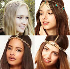 Fashion Women Metal Rhinestone Chain Headband girls Head Piece Hair Band Jewelry