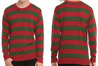 A Nightmare On Elm Street Freddy Krueger Knit Striped Sweater Costume NWT A
