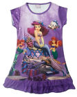 Disney Little Mermaid Ariel Enfants Filles Jupe Pyjama Robe Girls 3-9 ans Violet