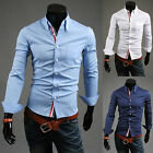SALE PJ Dress Shirts For Mens Formal Casual Shirts Slim Fit Business Wear Tops