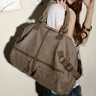 FASHION Women Big Size Zipper Canvas Purse Handbag Messenger Shoulder Bag Totes