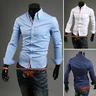 NEW Mens Designed Casual Dress Shirts Tops Slim Lines Stylish USLO