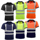 Hi Vis High Viz Visibility Short Sleeve Safety Work Polo T Shirt EN471 - HV004