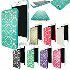 AP-iP64Rubberized Damask Vintage Clear Hard Case Cover For iPhone 6S 6 Plus 5 5S