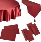 FAUX SILK BURGUNDY TABLE CLOTHS BIRTHDAY PARTY CHRISTMAS OCCASION WINE RED RUST