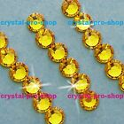 GENUINE Swarovski Light Topaz (226) Crystal ( No hotfix ) Flat back Rhinestones