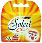 BiC Soleil Clic Lady Triple Blade Refill Cartridges (Pack of 4) Use with BiC