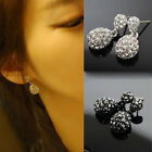Fashion Cute Lady Crystal Rhinestone Dangle Style Studs Earrings New Good Deal