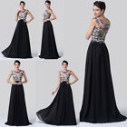 LONG Applique Style Bridesmaid Party Evening Pageant/Cocktail Prom Maxi Dress y1