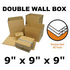 9 x 9 x 9 Double Wall Cardboard Boxes Packaging Postal Mailing Removal Storage