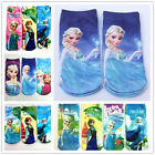 Kids 4 Pairs Cute Frozen Elsa&Anna Short Sock Girl Socks More Colors 2-12 Years