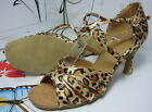 "2.75"" HEEL CHEETAH LEOPARD SALSA LATIN SANDALS DANCE SHOES"