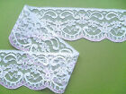 "NEW~TOP QUALITY Pretty WHITE/PINK Nottingham  Lace 2.5"" wd  Card/Craft/Baby"