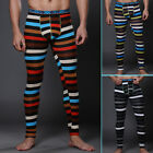 FREE P&P~ Striped Mens Long Johns Underwear Thermal Pants Inner Trousers Bottoms