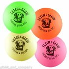 MEDIUM FETCH & GLOW JR BALL - Floats Water Glow in the Dark Non-Toxic Dog Toy