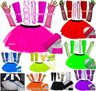 NEON TUTU SKIRT SET  80S FANCY DRESS
