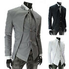 Unique Sexy Stunning Asymmetric Design Men's Winter Jacket Blazer Trench Coat PJ