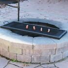 Rectangle Outdoor Wood Fire Pit Mesh Cooking Grill Grate