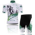 2 Pcs FREE SHIP Men Short Sleeve Cycling Coolmax Long Rides Jersey+Short Pants