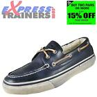 Sperry Top Sider Mens Bahama Fleece Lined Leather Boat Shoes Navy *AUTHENTIC*