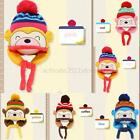 Kids Baby Handmade Cartoon Ball Winter Beanie Cap Monkey Crochet Earflap Hat A22