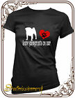 Pugs pug,leave paw prints heart,dog,t shirt,S-XXL
