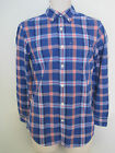 NEW GAP Mens Blue Plaid Slim Fit Long Sleeve Button Down Shirt Size XS,S NWT