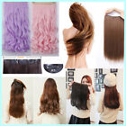 UK Long Straight/Curly/Wavy Hair Extension Clip in Hair Extensions 1Pcs 5 Clips