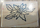 Psx B-376 Poinsettia Flower Bloom Plant Holiday Chirstmas  Wooden Rubber Stamp
