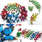 2014 Hot ! 12pcs 3D Butterfly Wall Stickers Home Room Decoration Art DIY Decal