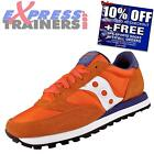 Saucony Mens Jazz Original Classic Retro Running Trainers Orange *AUTHENTIC*