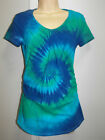 TIE DYE / DYED MATERNITY TOP WITH SIDE ROUCHING AVAILABLE IN SIZE S, M, L & XL