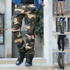 Hot Mens Fashion Slim Fit Casual Baggy Military Camo Camouflage Pants Trousers