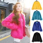 Womens warm Loose Faux Fur Jacket Short Coat Outwear Clubwear Winter Coat Tops