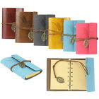 Vintage Leaf Leather Cover Loose Leaf Blank Notebook Journal Diary Gift Gayly