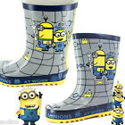 Boys Despicable Me Minions Wellington Boots Wellies Welly Sizes 6-12 Kids Gift