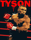 IRON MIKE TYSON red letterings heavyweight boxing champ glossy photo t-shirt