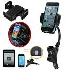 Car Cigarette Lighter Socket +Dual USB 2.1A Charger +Mount Holder For Mobile GPS
