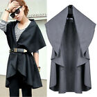 Fashion Women's Loose Irregular Vest Sleeveless Jacket Waistcoat Coat Outerwear