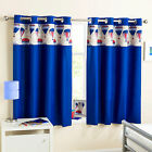 Hot Air Balloon Blue Childrens Bedroom Thermal Blockout Lined Ring Top Curtains