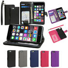 Leather Wallet Folio Stand Cover Case w/ Card Holder For Apple iPhone 6 / 6 Plus