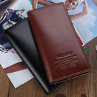 Men's Long Genuine Leather Wallet Pockets Card Clutch Bifold Purse For Xmas Gift