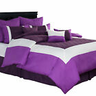 Hotel by Lavish Home 9 Piece Comforter Set with Pillows and Bed Skirt