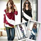High Quality 4 Colors Lady's BatWing Casual Sleeve T-Shirt Top Stripe Blouse