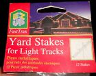 EZ-UP FASTTRAX Outdoor YARD STAKES for Christmas Light Set NEW LOT of 24 Holders