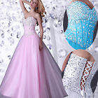 XMAS GIFT LONG PROM DRESS FORMAL EVENING SWEET PARTY PAGEANT GOWN PRINCESS DRESS