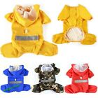 Pet Dog Raincoat Clothes Dogs Puppy Casual Waterproof Jacket Hoodie 6 Sizes