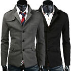 CLEARANCE VINTAGE MILLTARY Men Single Breasted Winter Coat Jackets Overcoat Tops