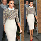 Celebrity Women Office Bodycon Evening Bodycon Party Evening Shift Pencil Dress