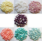 15 Grams (Approx 110) 8mm SMALL ACRYLIC FLAT BACK PEARL FINISH CABOCHONS-Decoden